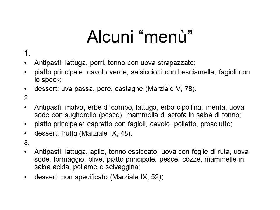 """Alcuni """"menù"""" 1. Antipasti: lattuga, porri, tonno con uova strapazzate; piatto principale: cavolo verde, salsicciotti con besciamella, fagioli con lo"""