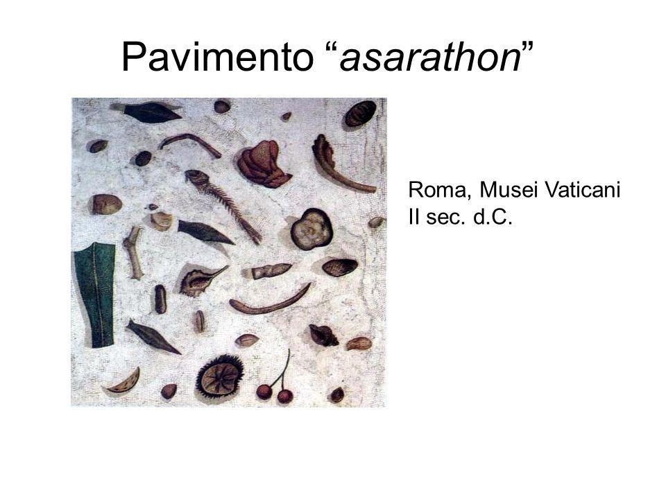 "Pavimento ""asarathon"" Roma, Musei Vaticani II sec. d.C."