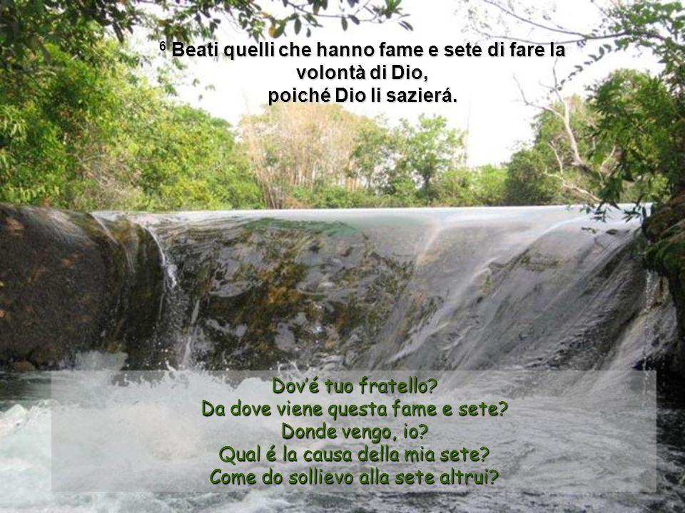 4 Beati gli afflitti, perché Dio li consolerà 5 Beati i miti, perché erediteranno la terra.