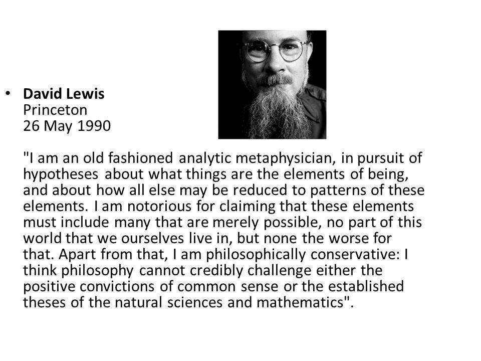 David Lewis Princeton 26 May 1990