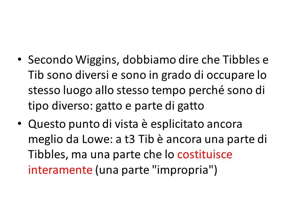Secondo Wiggins, dobbiamo dire che Tibbles e Tib sono diversi e sono in grado di occupare lo stesso luogo allo stesso tempo perché sono di tipo divers