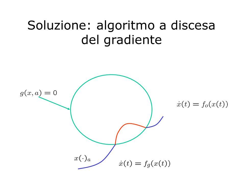 Soluzione: algoritmo a discesa del gradiente