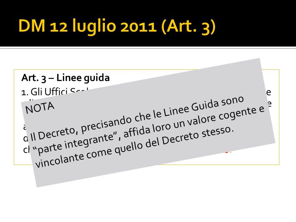 Art. 3 – Linee guida 1.