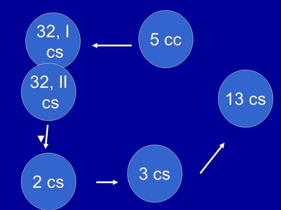 5 cc 2 cs 32, I cs 3 cs 13 cs 32, II cs