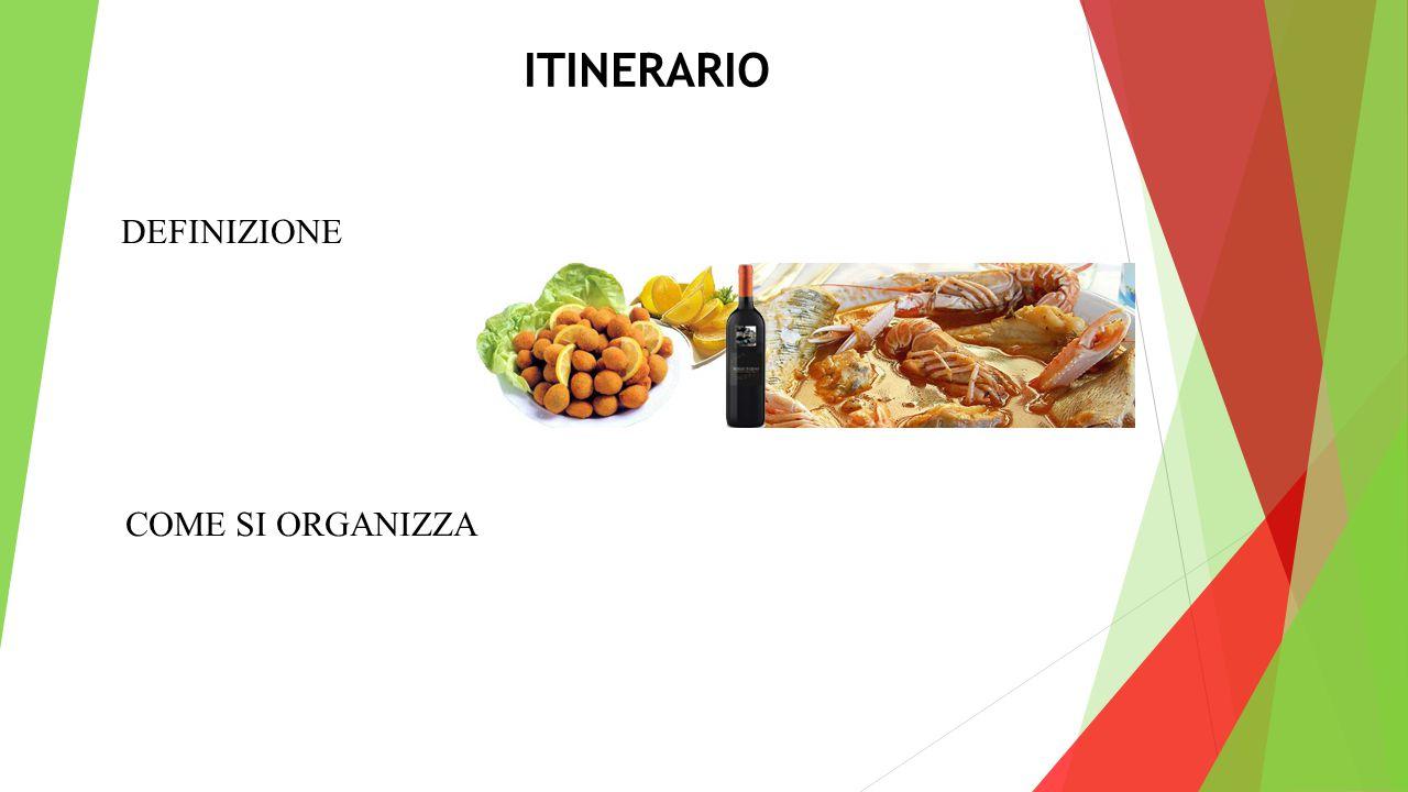 ITINERARIO DEFINIZIONE COME SI ORGANIZZA