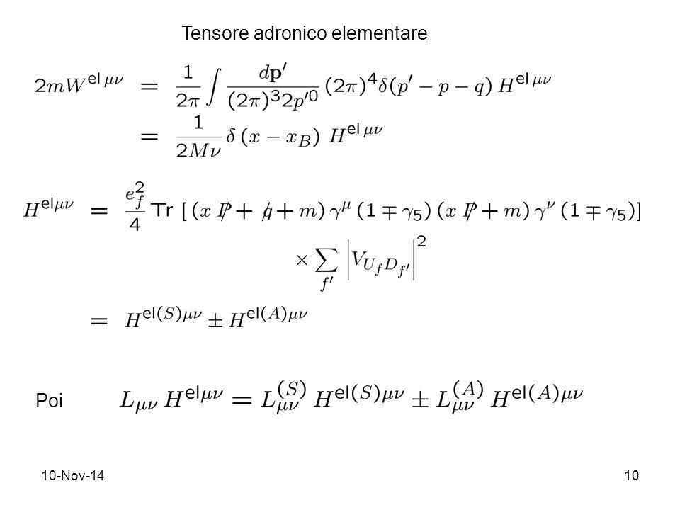 10-Nov-1410 Tensore adronico elementare Poi