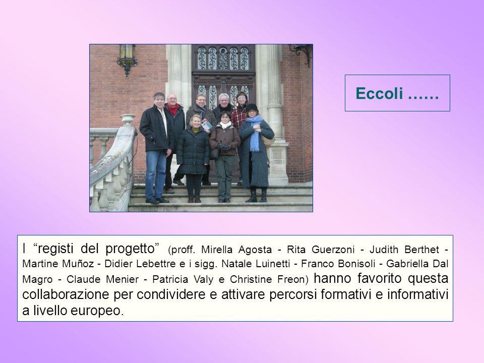 I registi del progetto (proff.