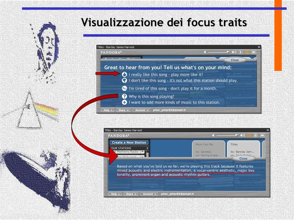 Visualizzazione dei focus traits