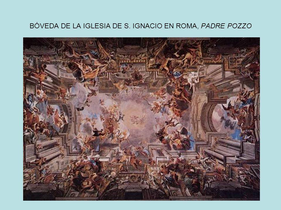 BÓVEDA DE LA IGLESIA DE S. IGNACIO EN ROMA, PADRE POZZO