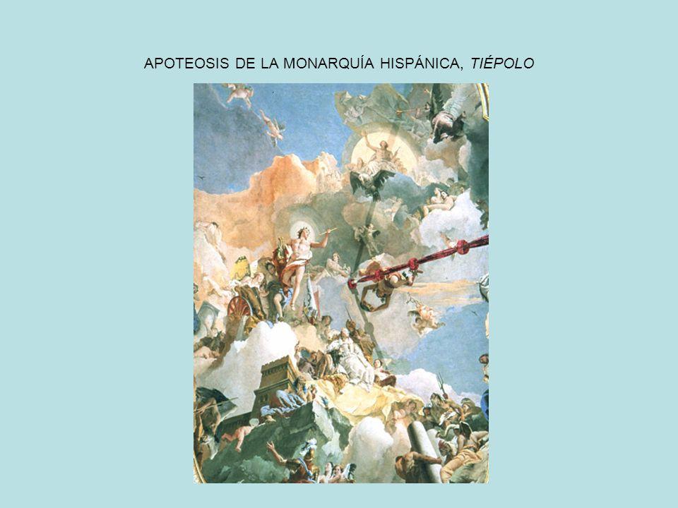 APOTEOSIS DE LA MONARQUÍA HISPÁNICA, TIÉPOLO
