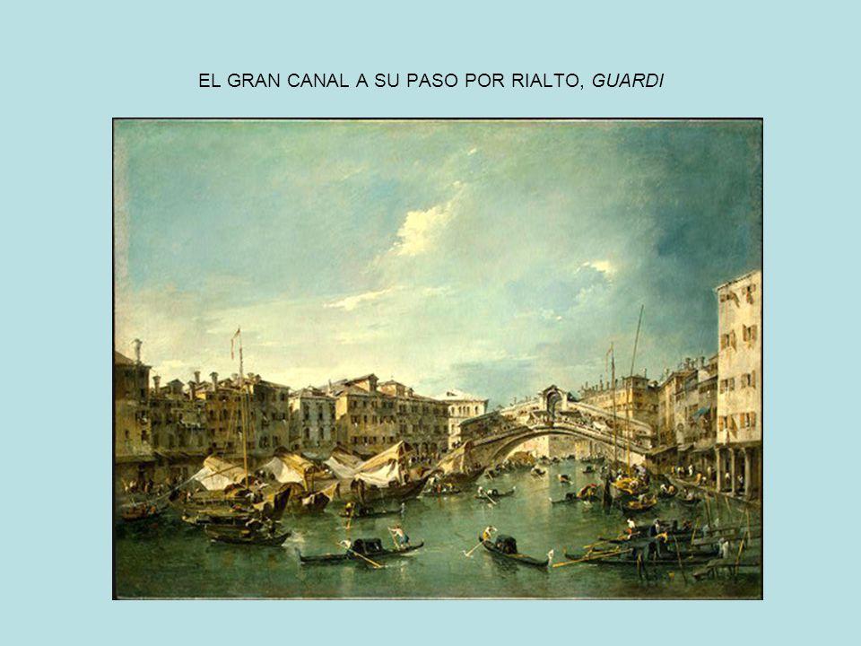 EL GRAN CANAL A SU PASO POR RIALTO, GUARDI