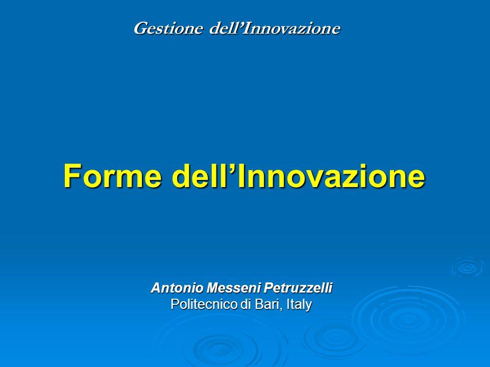Innovazione  Prodotto vs.Processo  Radicale vs.