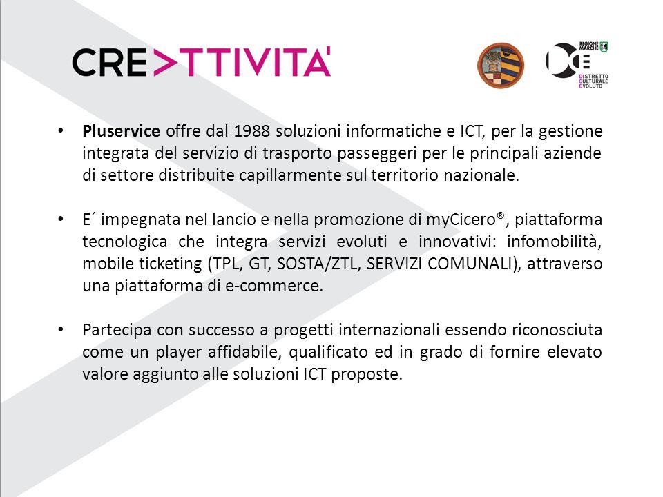 Pluservice offre dal 1988 soluzioni informatiche e ICT, per la gestione integrata del servizio di trasporto passeggeri per le principali aziende di settore distribuite capillarmente sul territorio nazionale.