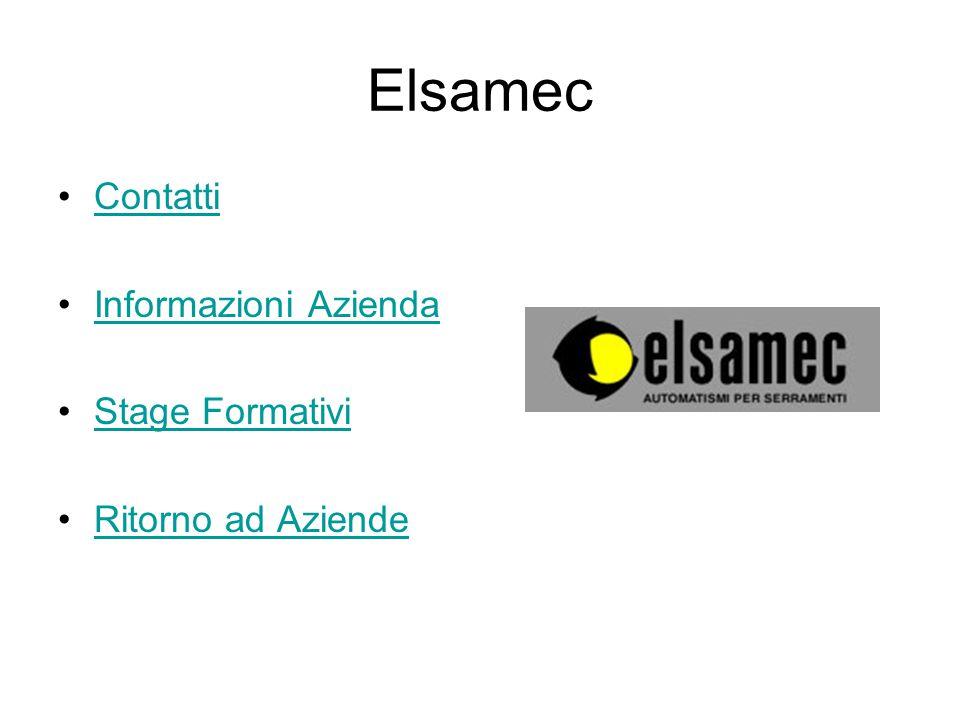 Elsamec Contatti Informazioni Azienda Stage Formativi Ritorno ad Aziende