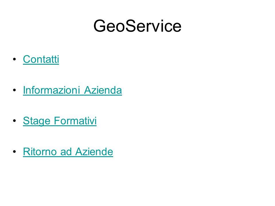 GeoService Contatti Informazioni Azienda Stage Formativi Ritorno ad Aziende