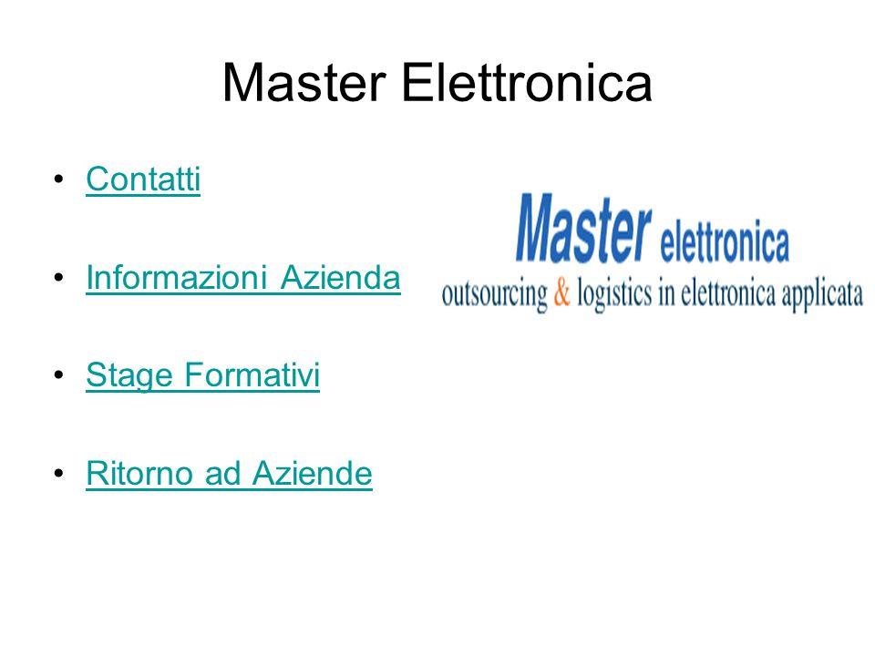 Master Elettronica Contatti Informazioni Azienda Stage Formativi Ritorno ad Aziende