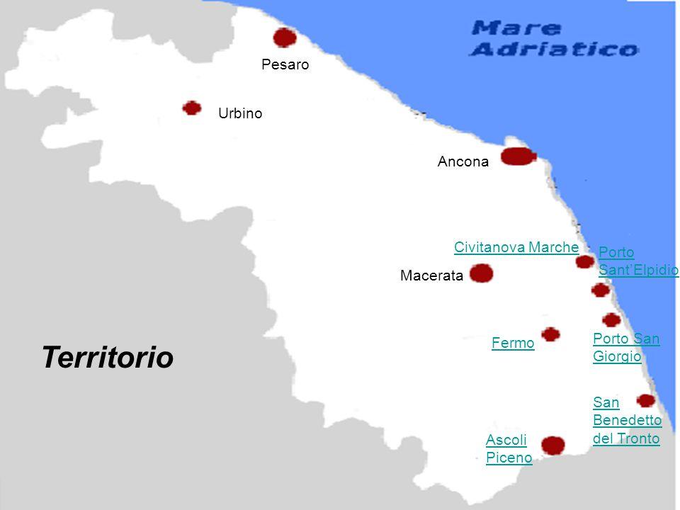 Territorio Urbino Pesaro Ancona Civitanova Marche Porto San Giorgio Porto Sant'Elpidio San Benedetto del Tronto Ascoli Piceno Macerata Fermo