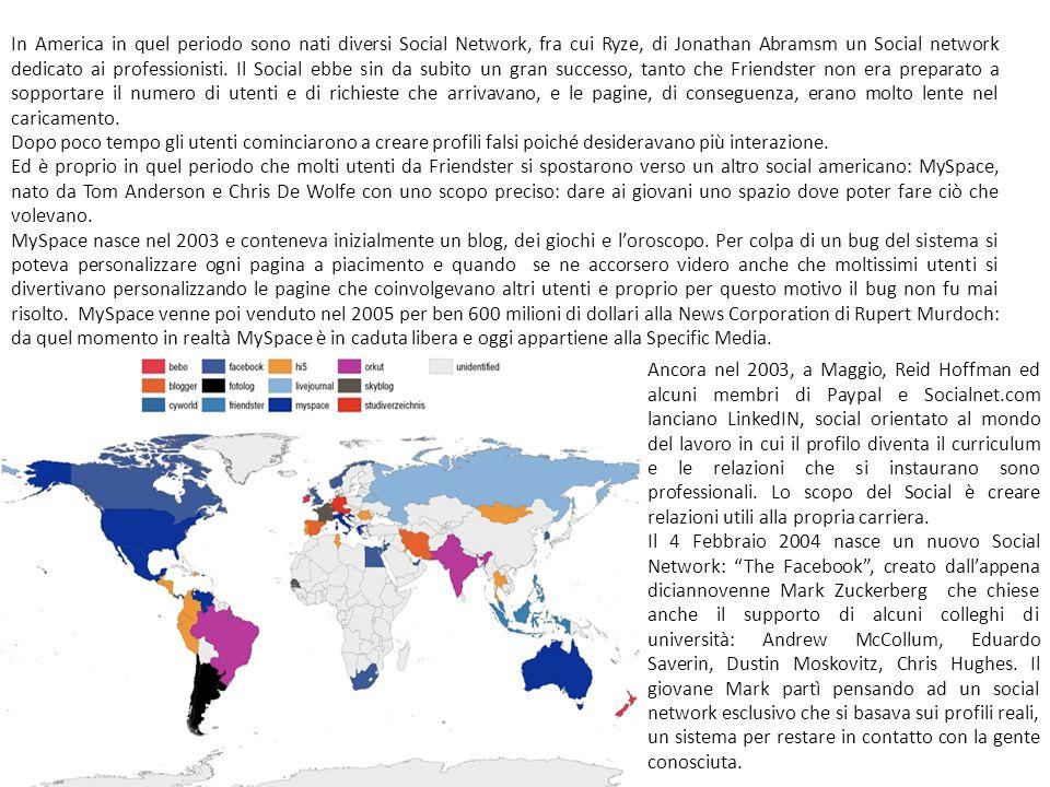 In America in quel periodo sono nati diversi Social Network, fra cui Ryze, di Jonathan Abramsm un Social network dedicato ai professionisti.