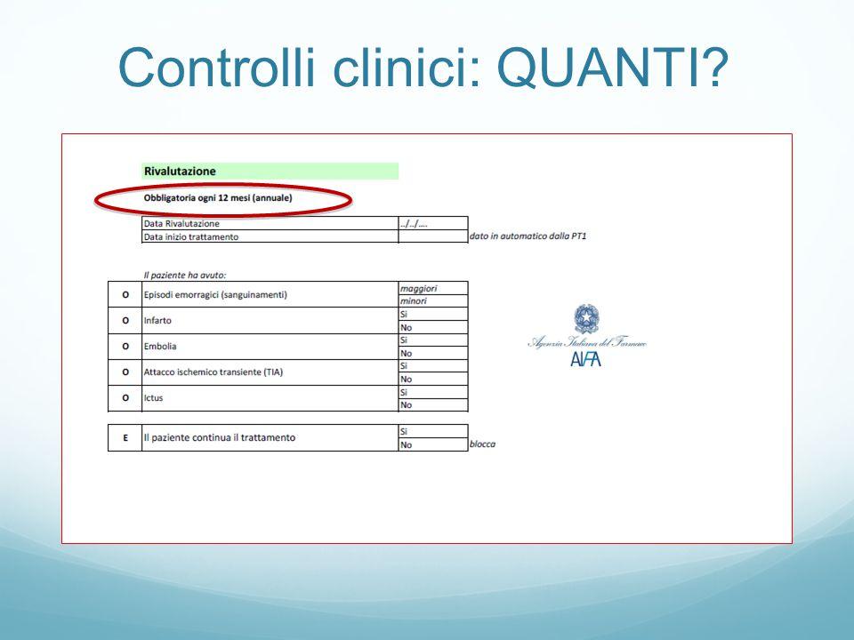 Controlli clinici: QUANTI?