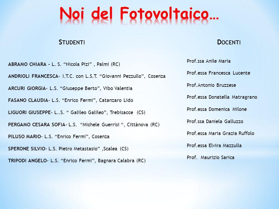 Prof. R.G.Agostino Dott. T.Caruso Dott. A.Policicchio Dott. N.Godberg Dott. A.Gnisci