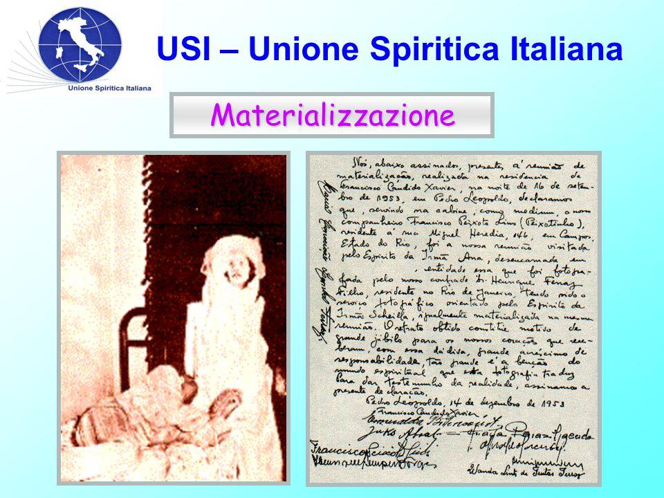 USI – Unione Spiritica Italiana Materializzazione