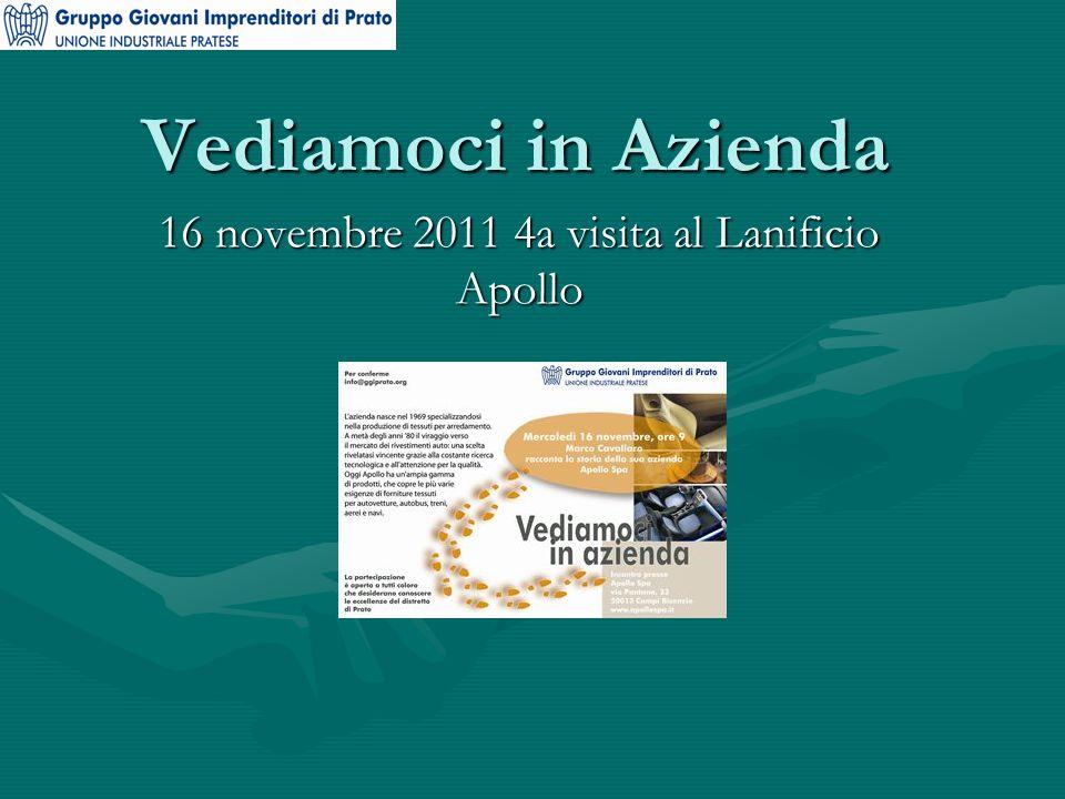 Vediamoci in Azienda 16 novembre 2011 4a visita al Lanificio Apollo