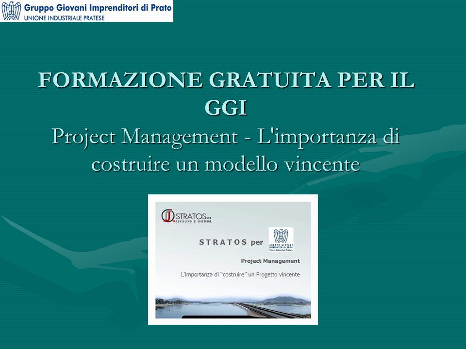 FORMAZIONE GRATUITA PER IL GGI Project Management - L importanza di costruire un modello vincente