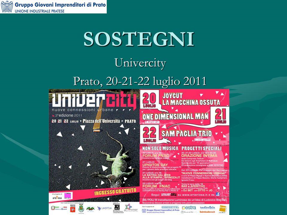 SOSTEGNI Univercity Prato, 20-21-22 luglio 2011