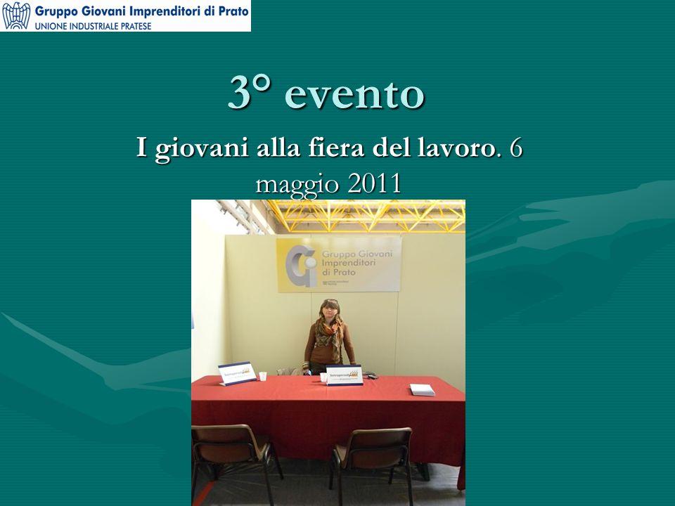 3° evento I giovani alla fiera del lavoro. 6 maggio 2011