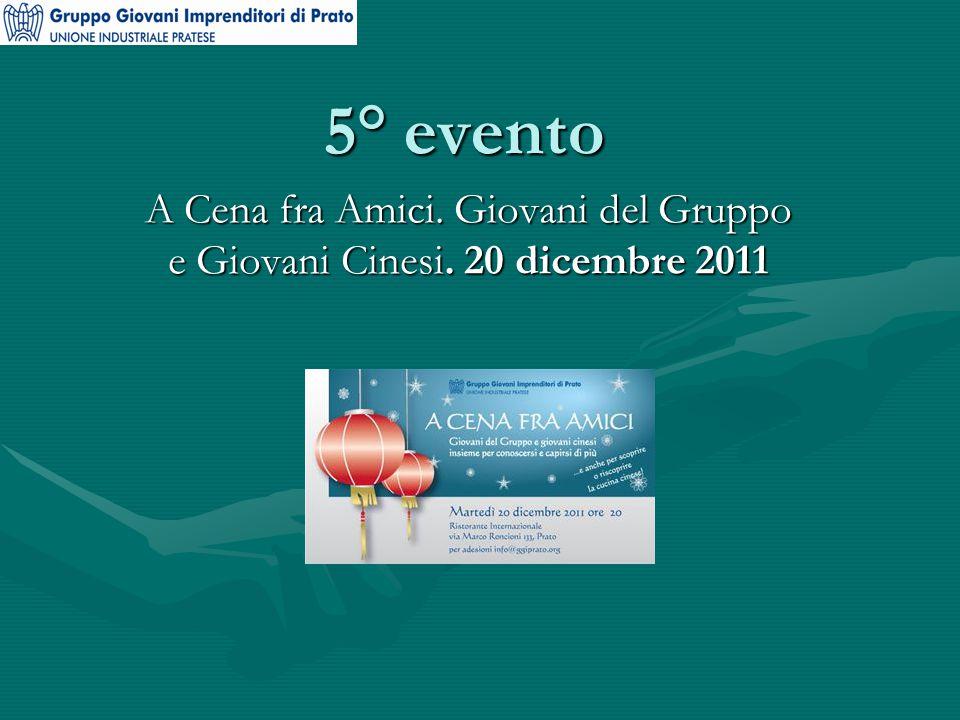 5° evento A Cena fra Amici. Giovani del Gruppo e Giovani Cinesi. 20 dicembre 2011