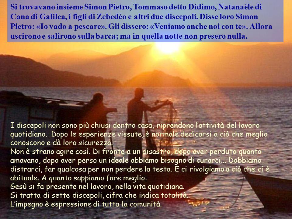 Lago di Tiberiade Dopo questi fatti, Gesù si manifestò di nuovo ai discepoli sul mare di Tiberìade. E si manifestò così: Il Vangelo di Giovanni ci ha
