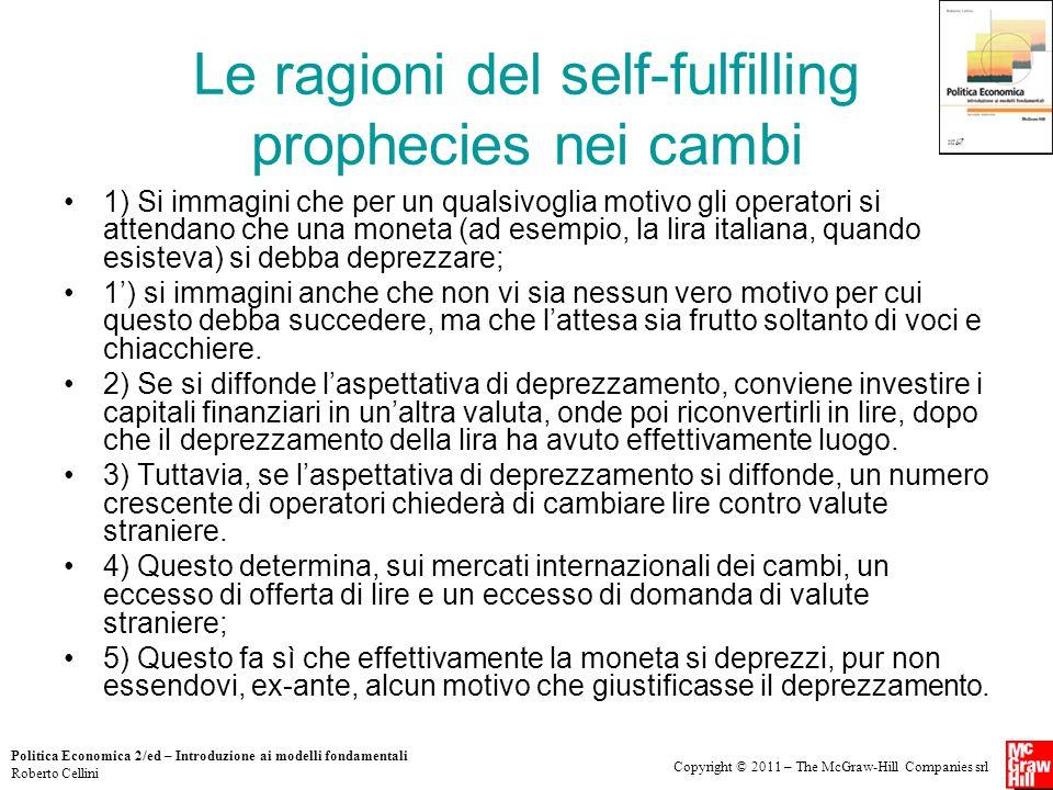 Copyright © 2011 – The McGraw-Hill Companies srl Politica Economica 2/ed – Introduzione ai modelli fondamentali Roberto Cellini Le ragioni del self-fu
