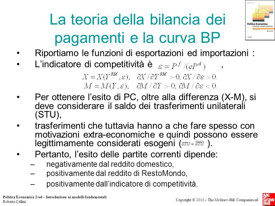 Copyright © 2011 – The McGraw-Hill Companies srl Politica Economica 2/ed – Introduzione ai modelli fondamentali Roberto Cellini La teoria della bilanc