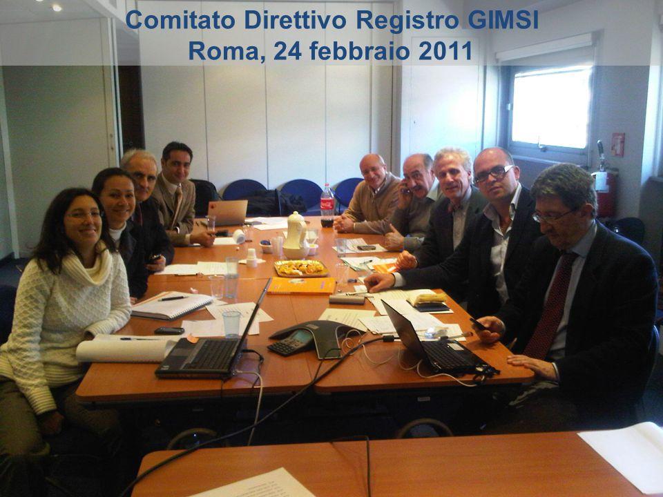 Comitato Direttivo Registro GIMSI Roma, 24 febbraio 2011