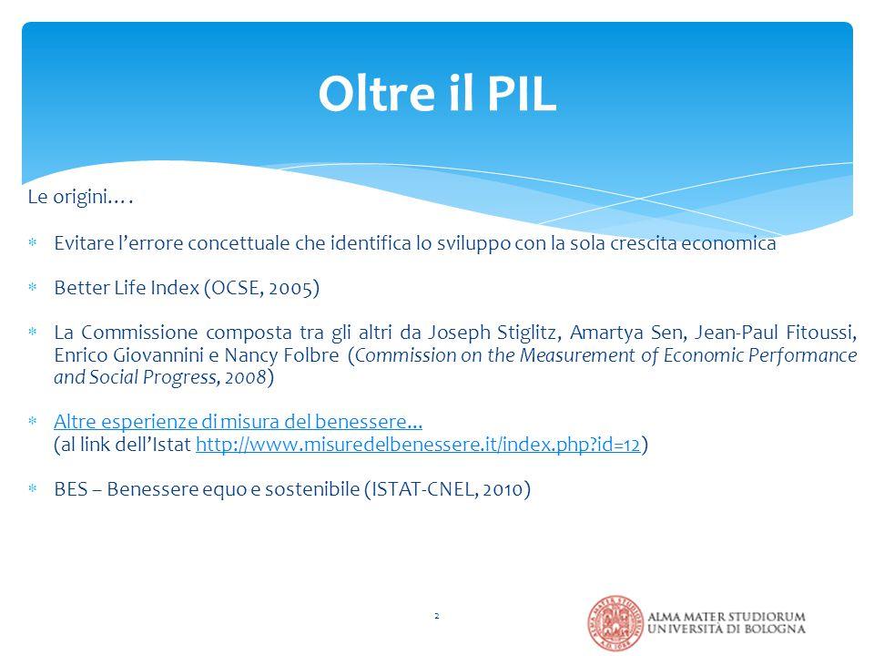 Consultazioni online dei cittadini del Comune di Bologna - Giugno 2013 63 Quale è la misura giusta delle nostre vite.