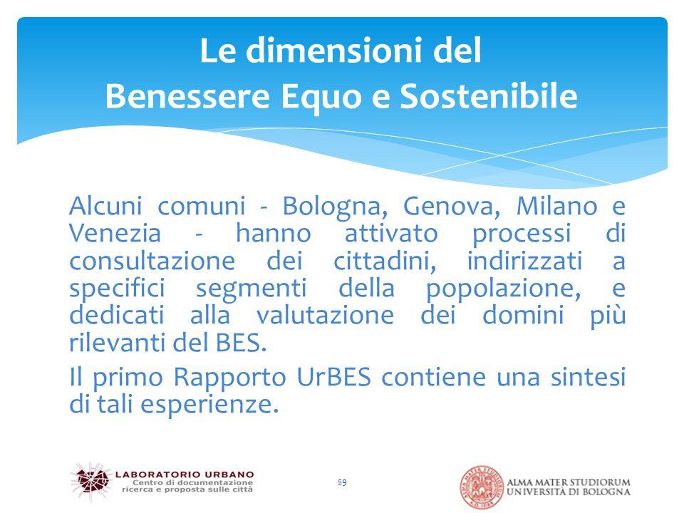 Alcuni comuni - Bologna, Genova, Milano e Venezia - hanno attivato processi di consultazione dei cittadini, indirizzati a specifici segmenti della pop
