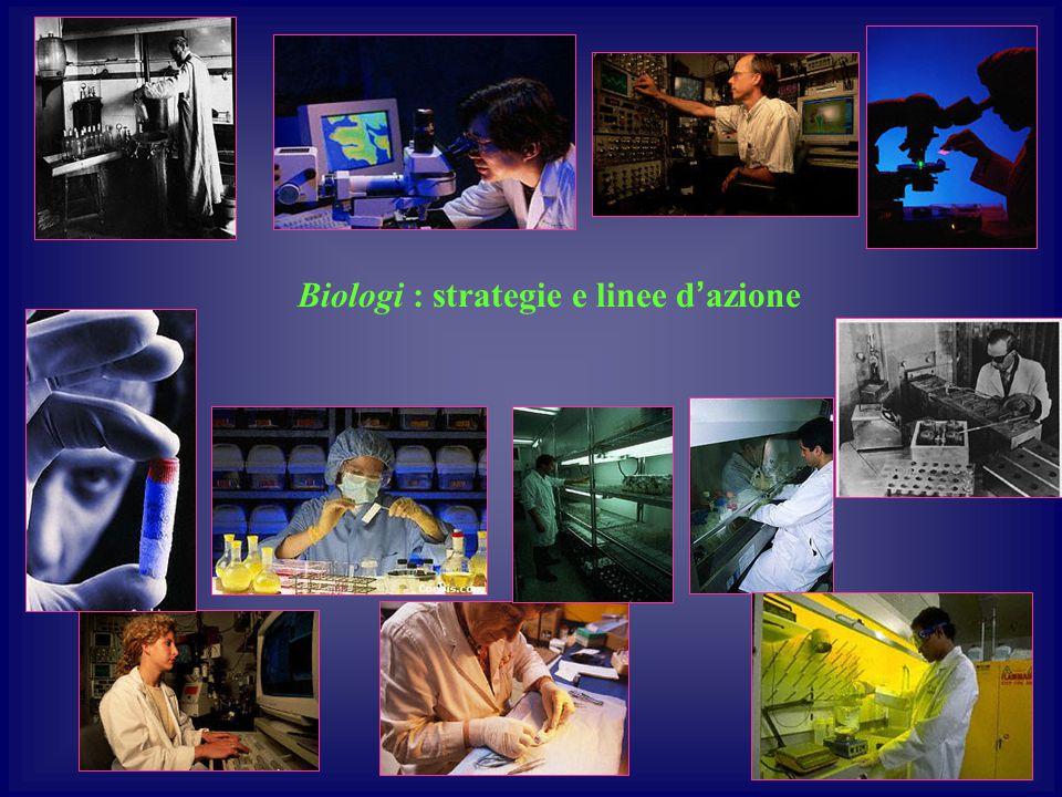 Biologi : strategie e linee d'azione