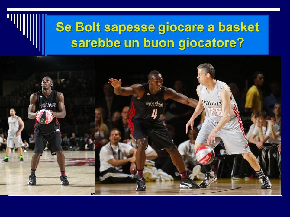 Se Bolt sapesse giocare a basket sarebbe un buon giocatore?