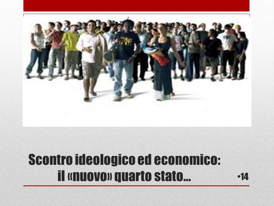 Scontro ideologico ed economico: il «nuovo» quarto stato… 14