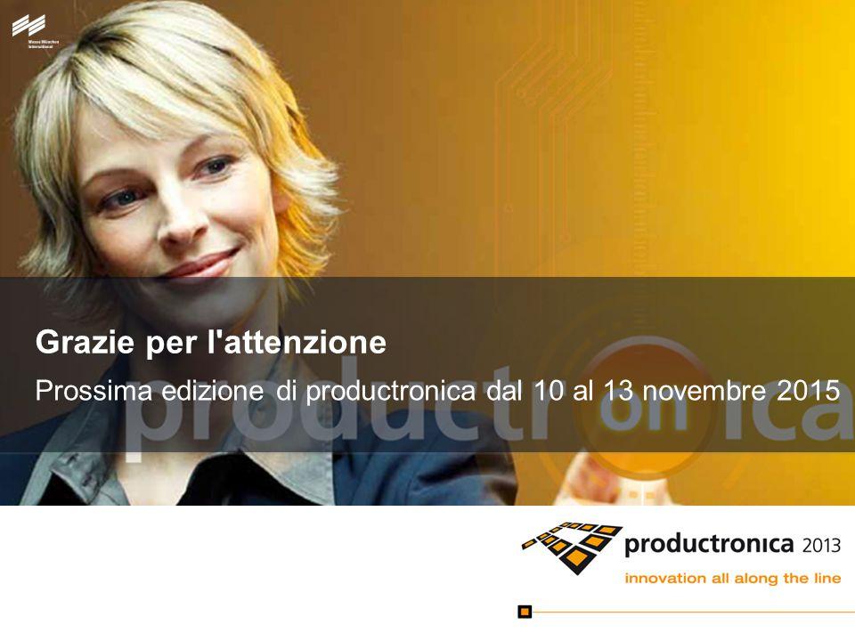Grazie per l attenzione Prossima edizione di productronica dal 10 al 13 novembre 2015