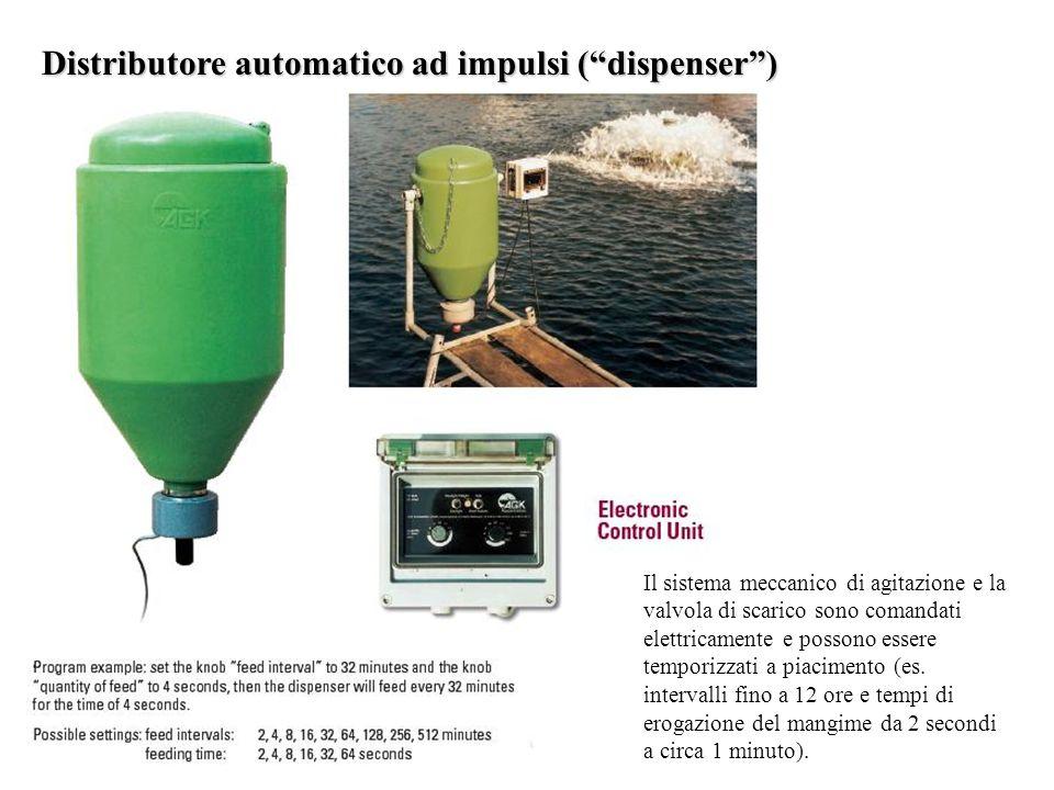 """Distributore automatico ad impulsi (""""dispenser"""") Il sistema meccanico di agitazione e la valvola di scarico sono comandati elettricamente e possono es"""