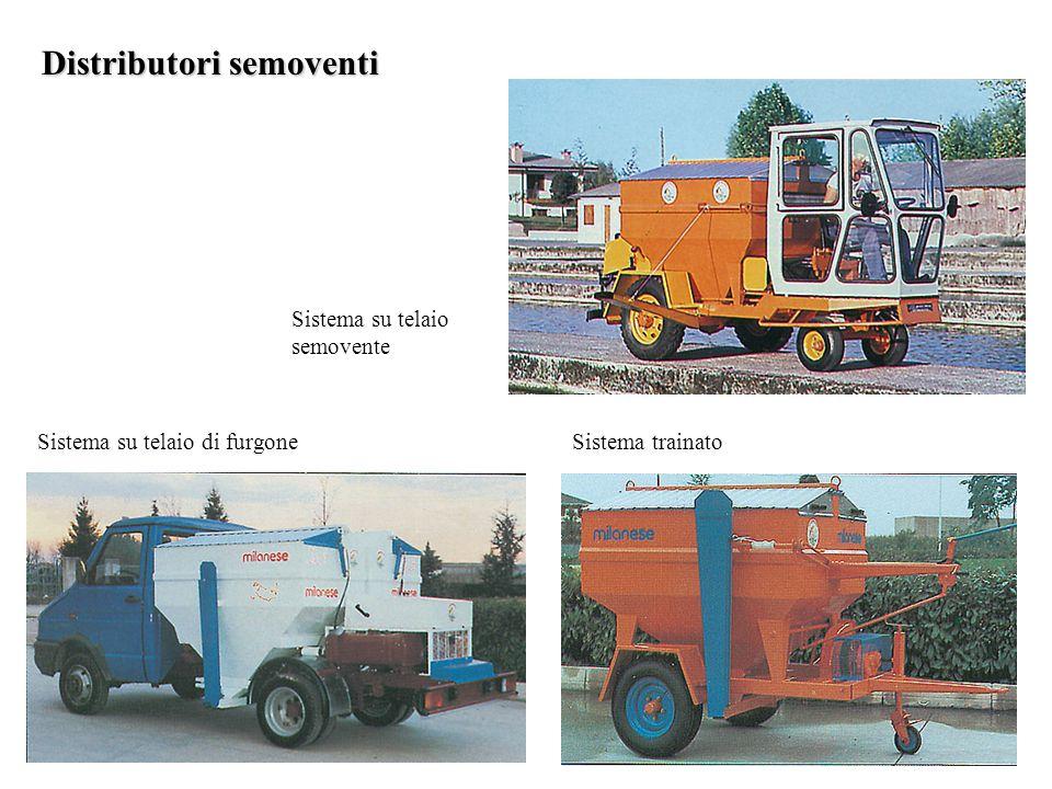 Distributori semoventi Sistema su telaio semovente Sistema su telaio di furgoneSistema trainato