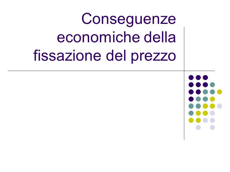 Conseguenze economiche della fissazione del prezzo