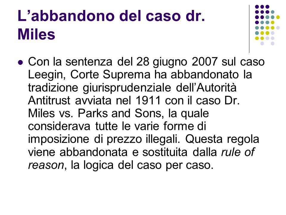 L'abbandono del caso dr.