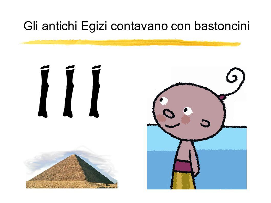 Gli antichi Egizi contavano con bastoncini