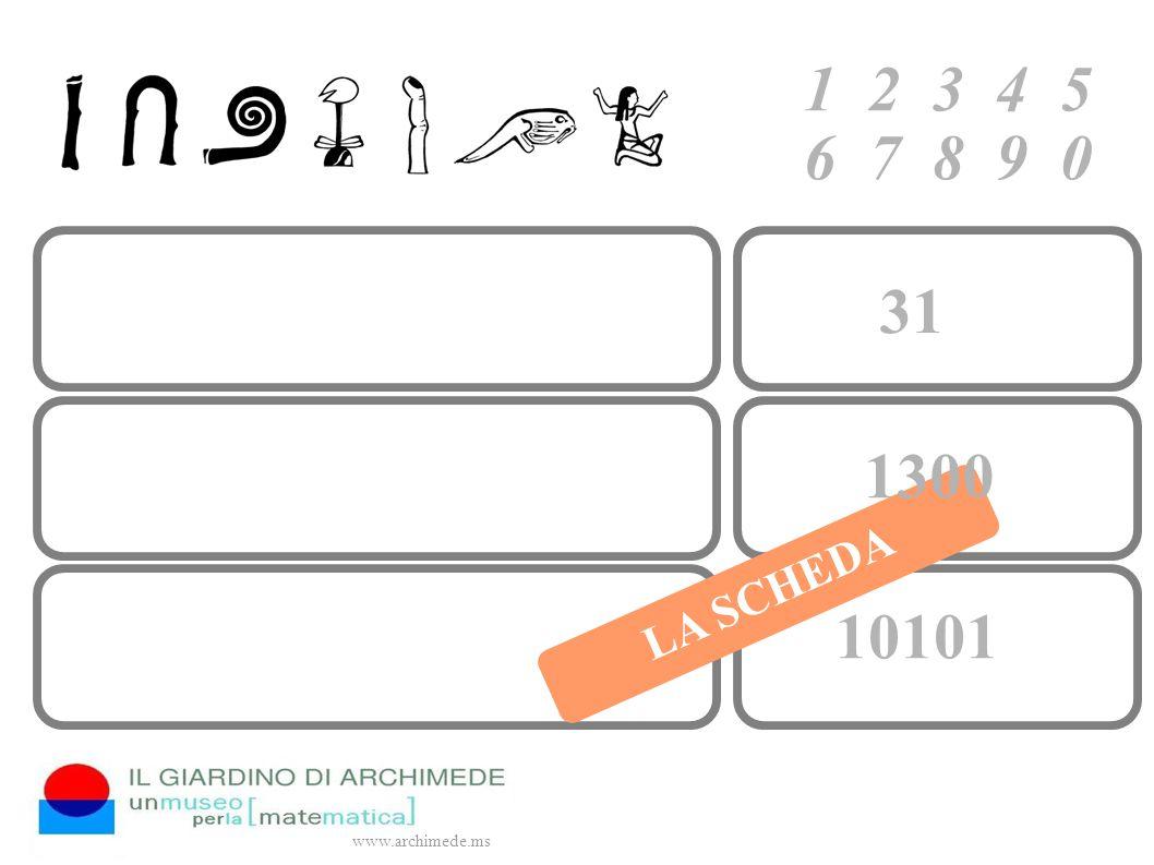 1 2 3 4 5 6 7 8 9 0 www.archimede.ms LA SCHEDA 31 1300 10101