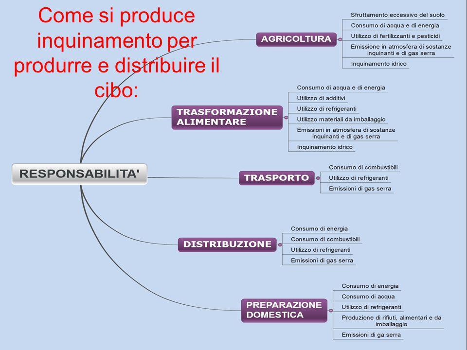 Come si produce inquinamento per produrre e distribuire il cibo: