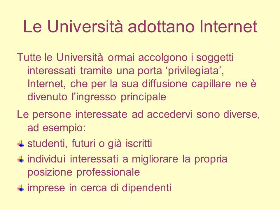 L'orientamento universitario Per quanto riguarda la prima categoria di individui, la funzione principale svolta dalle Università in questo caso è l'orientamento.