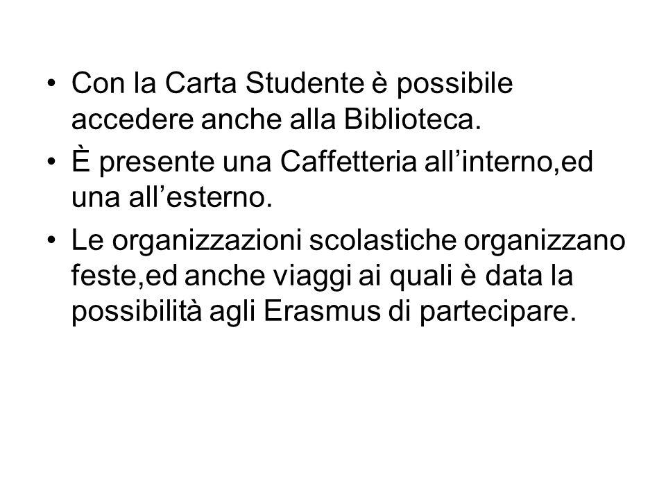 Con la Carta Studente è possibile accedere anche alla Biblioteca.