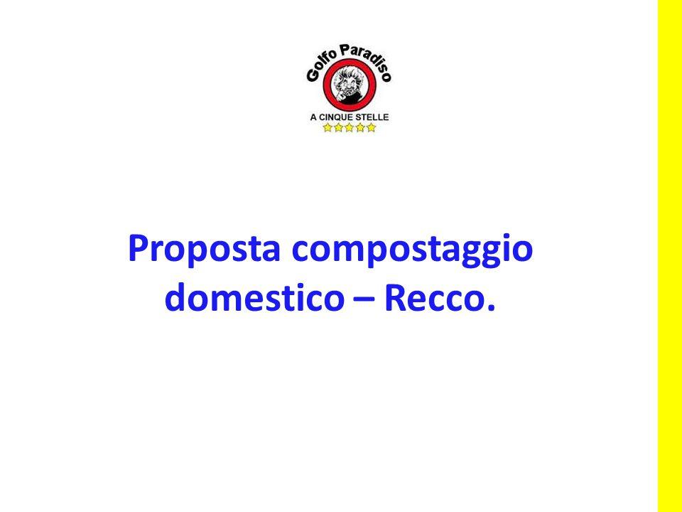 Proposta compostaggio domestico – Recco.